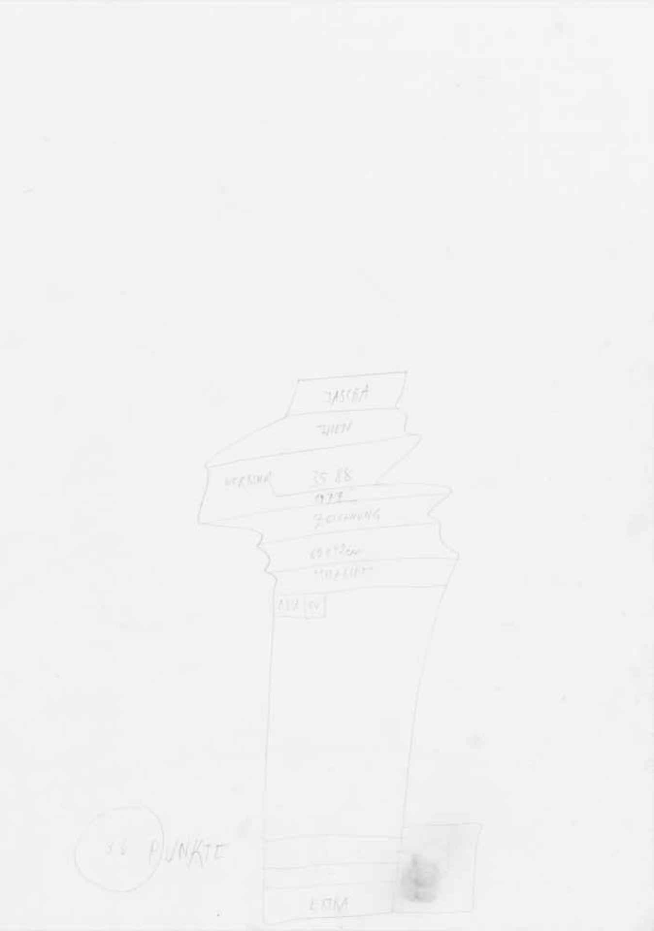 JOHANN JASCHA(1942 METTMACH)o. T., 1988Graphit auf Papier, 60 x 42 cmmontiert auf Karton: 70 x 50 - Bild 2 aus 2