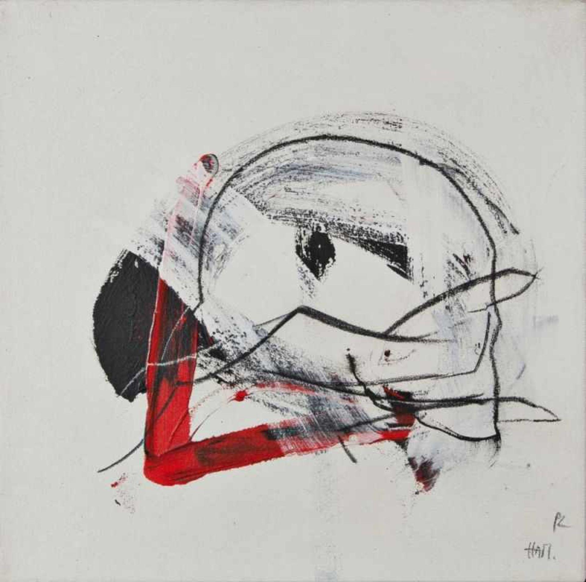 Los 28 - HANNES MLENEK(1949 WR, NEUSTADT)o. T., 1992Acryl auf Leinwand, 47 x 47 cmMonogrammiert vorne