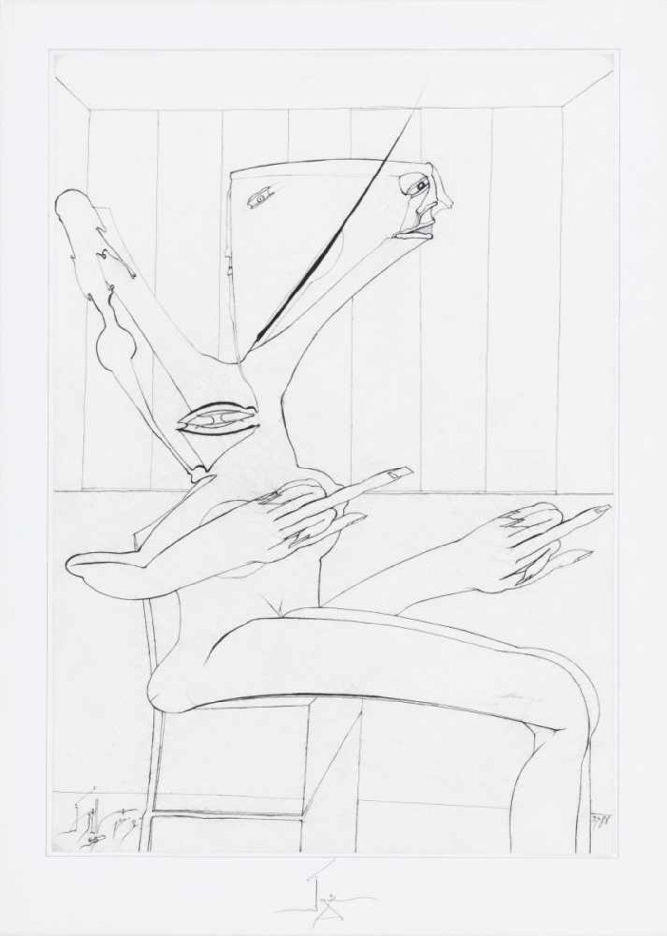 JOHANN JASCHA(1942 METTMACH)o. T., 1988Graphit auf Papier, 60 x 42 cmmontiert auf Karton: 70 x 50