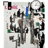 PADHI FRIEBERGER(1931 WIEN - 2016 WIEN)o. T., (SEHNSUCHTSLARVE)Mischtechnik, Collage auf Leinwand,