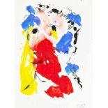 OTTO MUEHL(1925 GRODNAU - 2013 MONCARAPACHO)KOPF, 1985Mischtechnik auf Papier, 34 x 24 cmgerahmt,