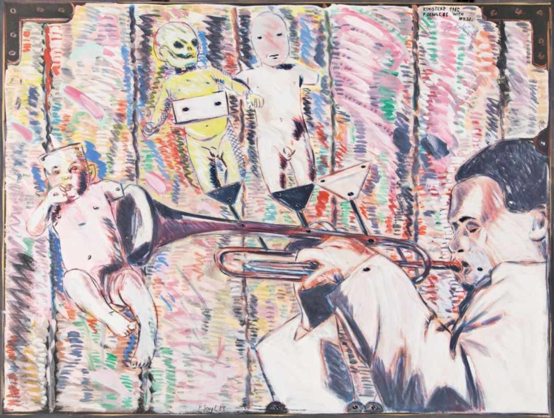 PETER SENGL(1945 UNTERBERGLA)KINDTERZ, 1985Mischtechnik, Acryl auf Papier, 49 x 64
