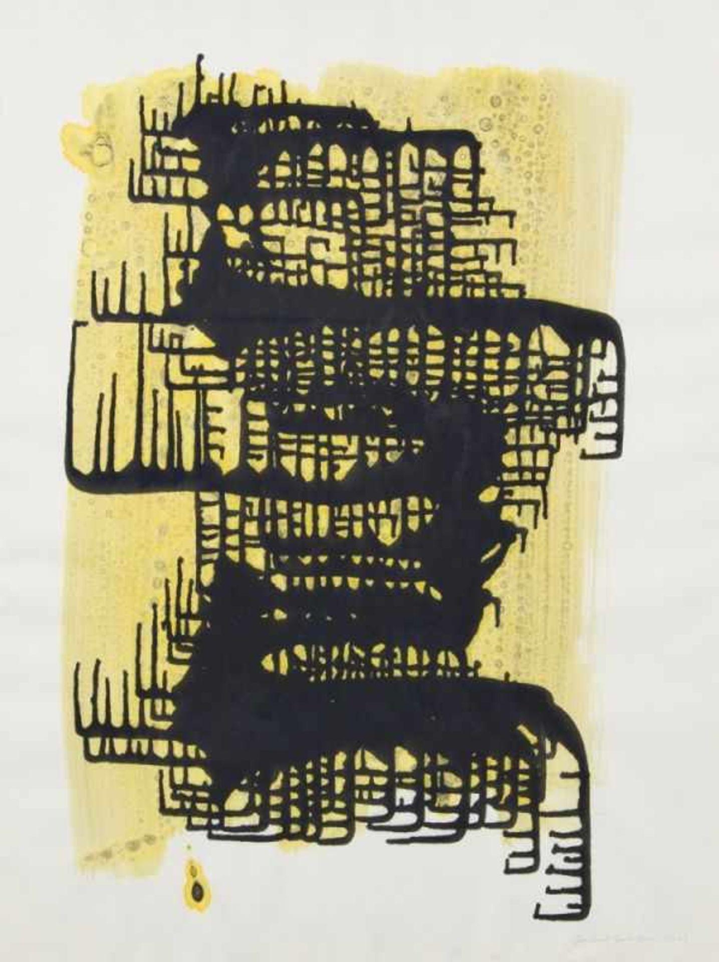 JAKOB GASTEIGER(1953 SALZBURG)o. T., 2003Tusche, Mischtechnik auf Papier, 64 x 47 cm,