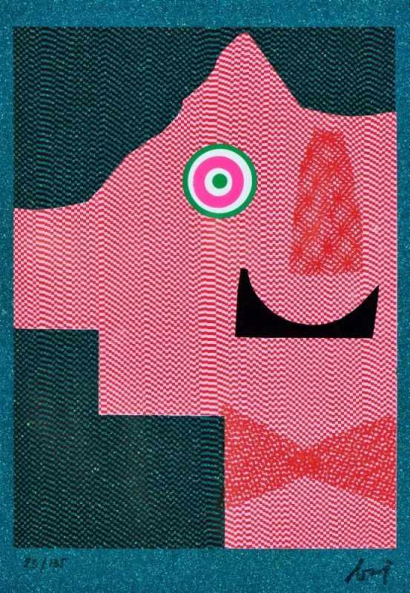ENRICO BAJ(1924 MAILAND - 2003 VERGIATE)AMBIGUÍTE, 1970Farbserigrafie auf Plastik, Blattgröße: 55