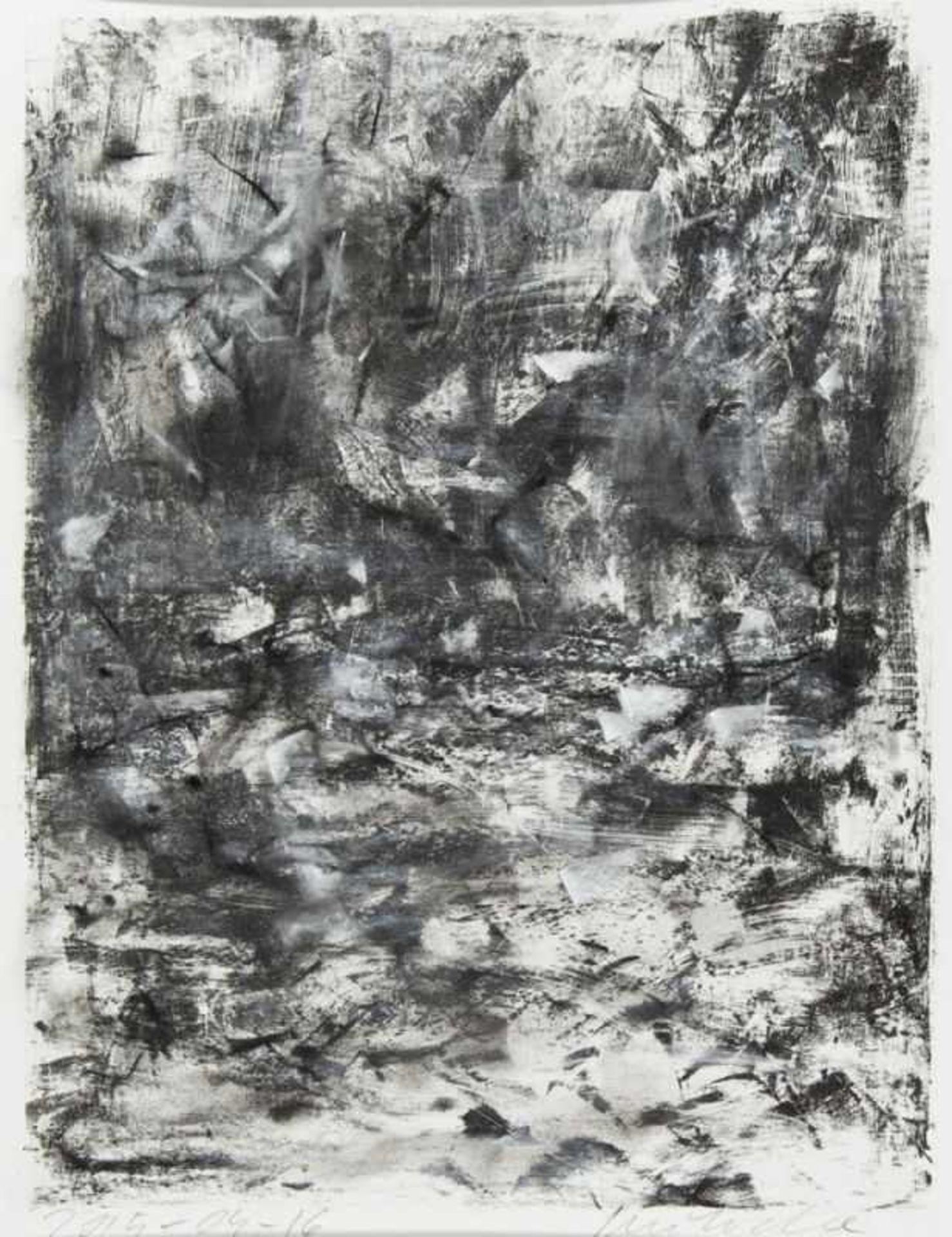 Los 56 - HELMUT SWOBODA(1958 AMSTETTEN)KLAMM, 2015Lithografie mit Pastell, Plattengröße: 34 x 25,5 cmgerahmt,