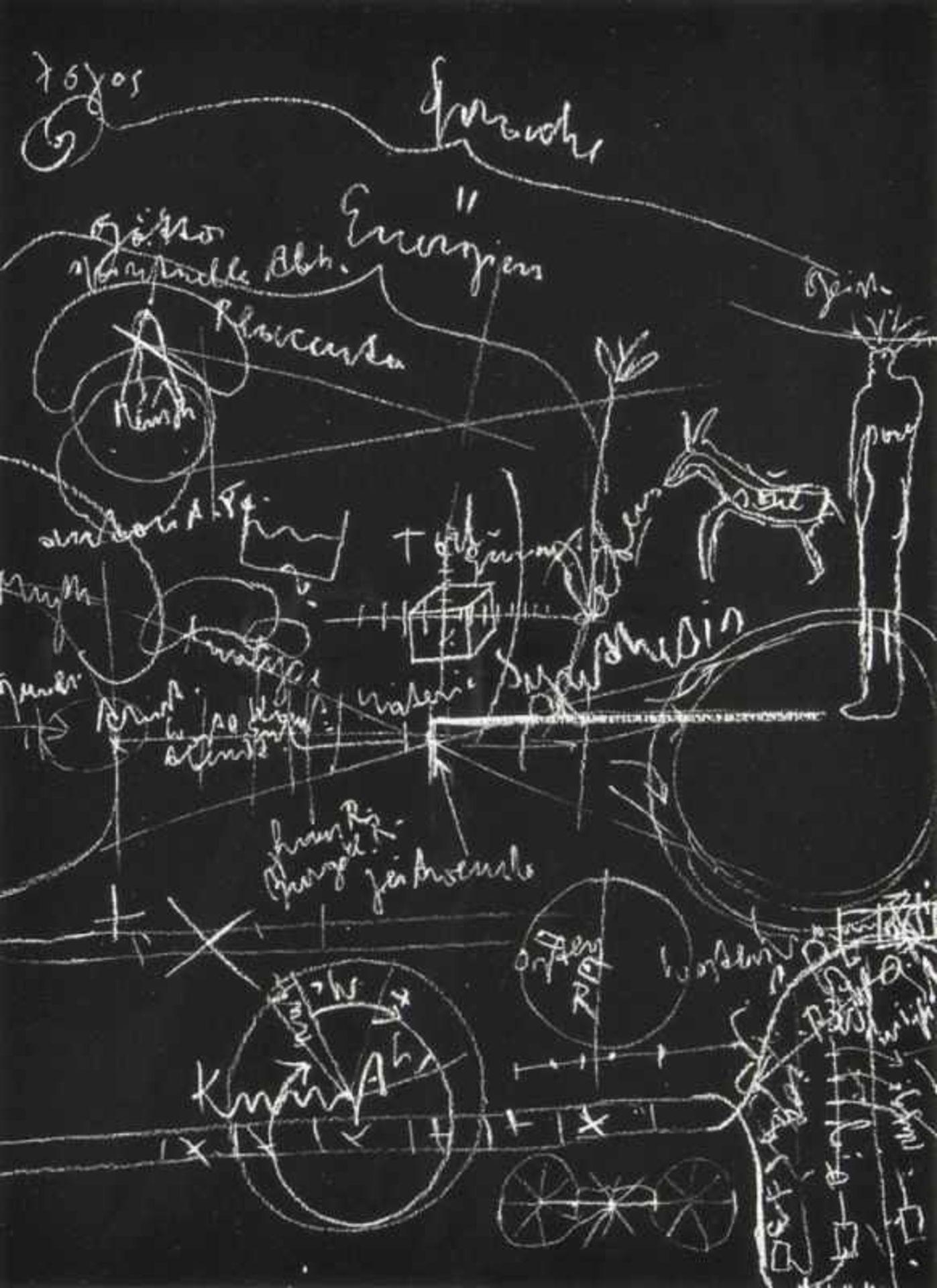 Los 7 - JOSEPH BEUYS(1921 KREFELD - 1986 DÜSSELDORF)BLACKBOARD I, II, UND III, 1980Drei Lithografien,