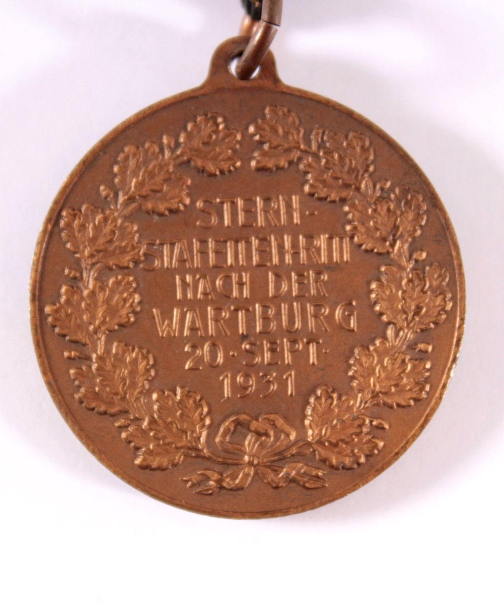 Medaille Stern Staffetten Ritt, Eisenach 1931VS: ohne Text, Motive: Wartburg und 4 Reiter im - Bild 3 aus 3