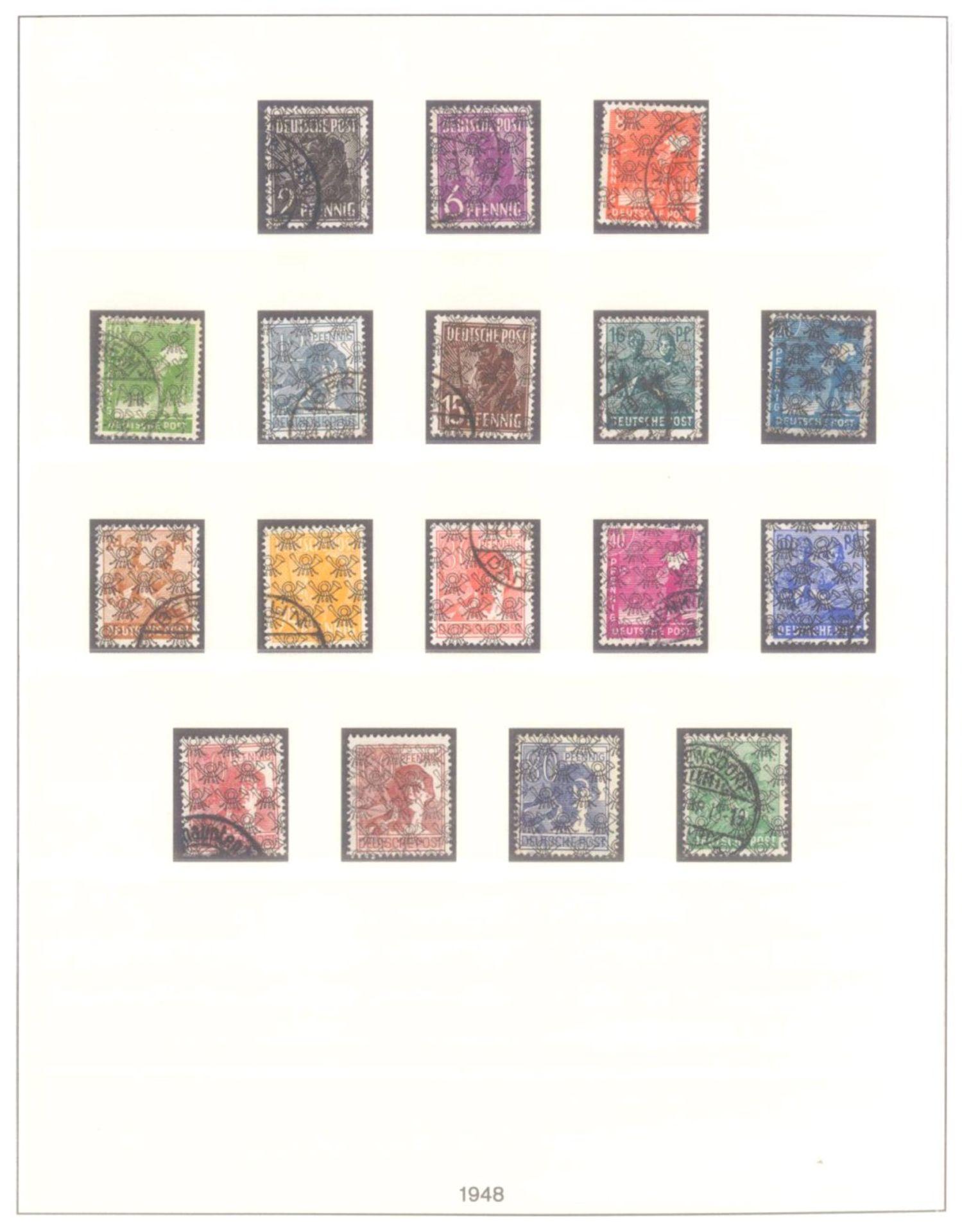 Sammlung Alliierte BesetzungAmerikanische und Britische Zone, AM Post (auch hohe Werte),sowie - Bild 3 aus 12