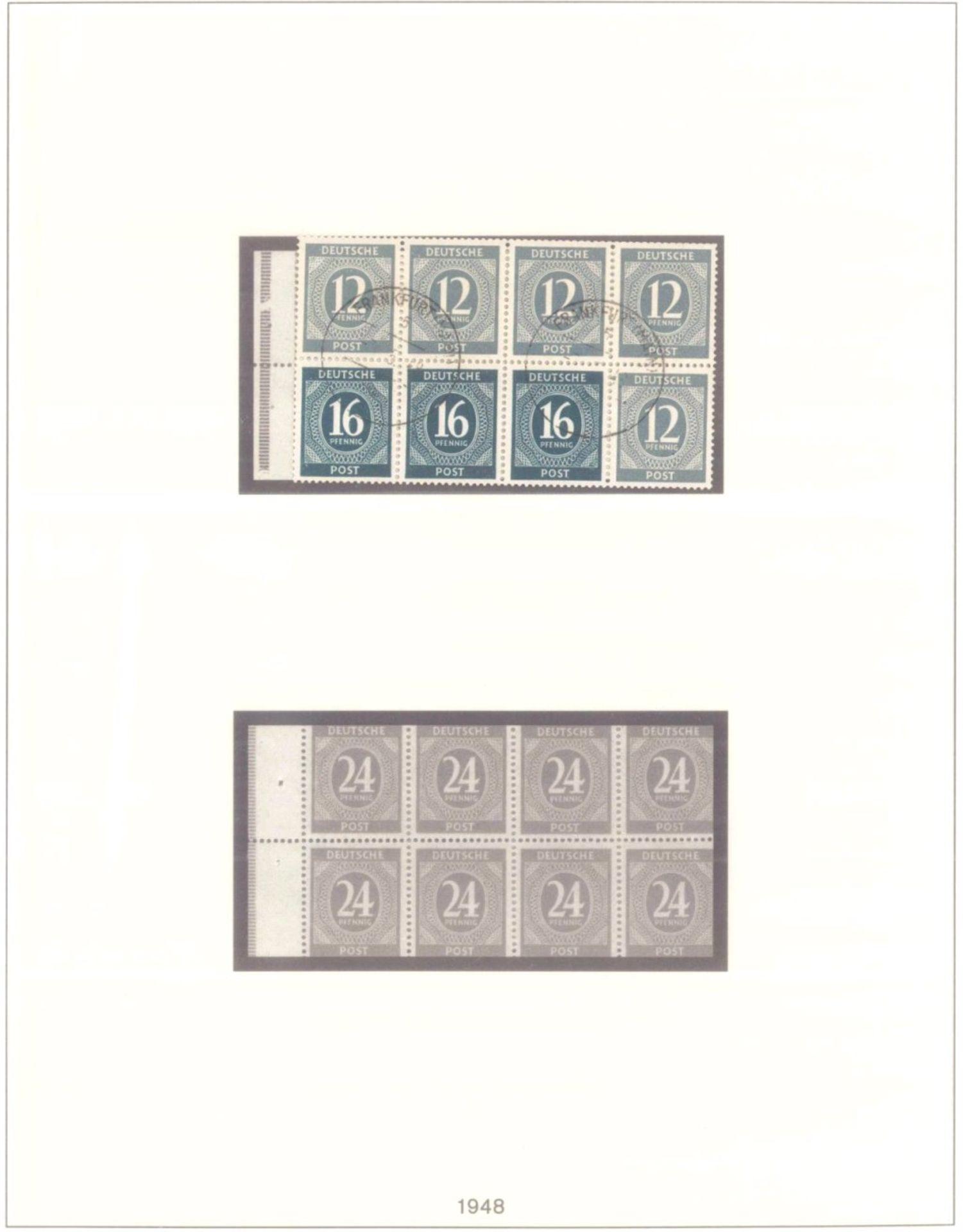 Sammlung Alliierte BesetzungAmerikanische und Britische Zone, AM Post (auch hohe Werte),sowie - Bild 12 aus 12