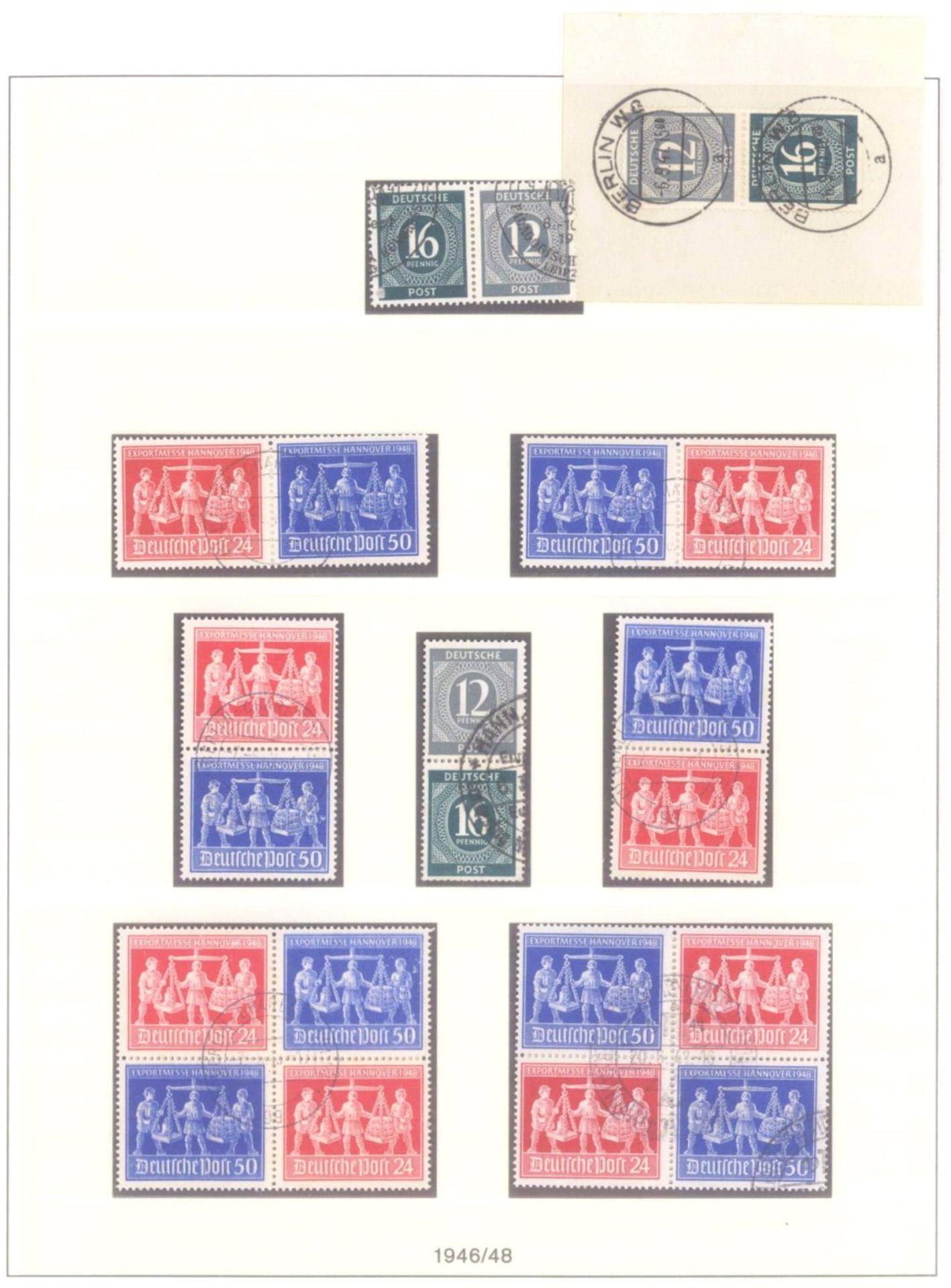 Sammlung Alliierte BesetzungAmerikanische und Britische Zone, AM Post (auch hohe Werte),sowie - Bild 9 aus 12