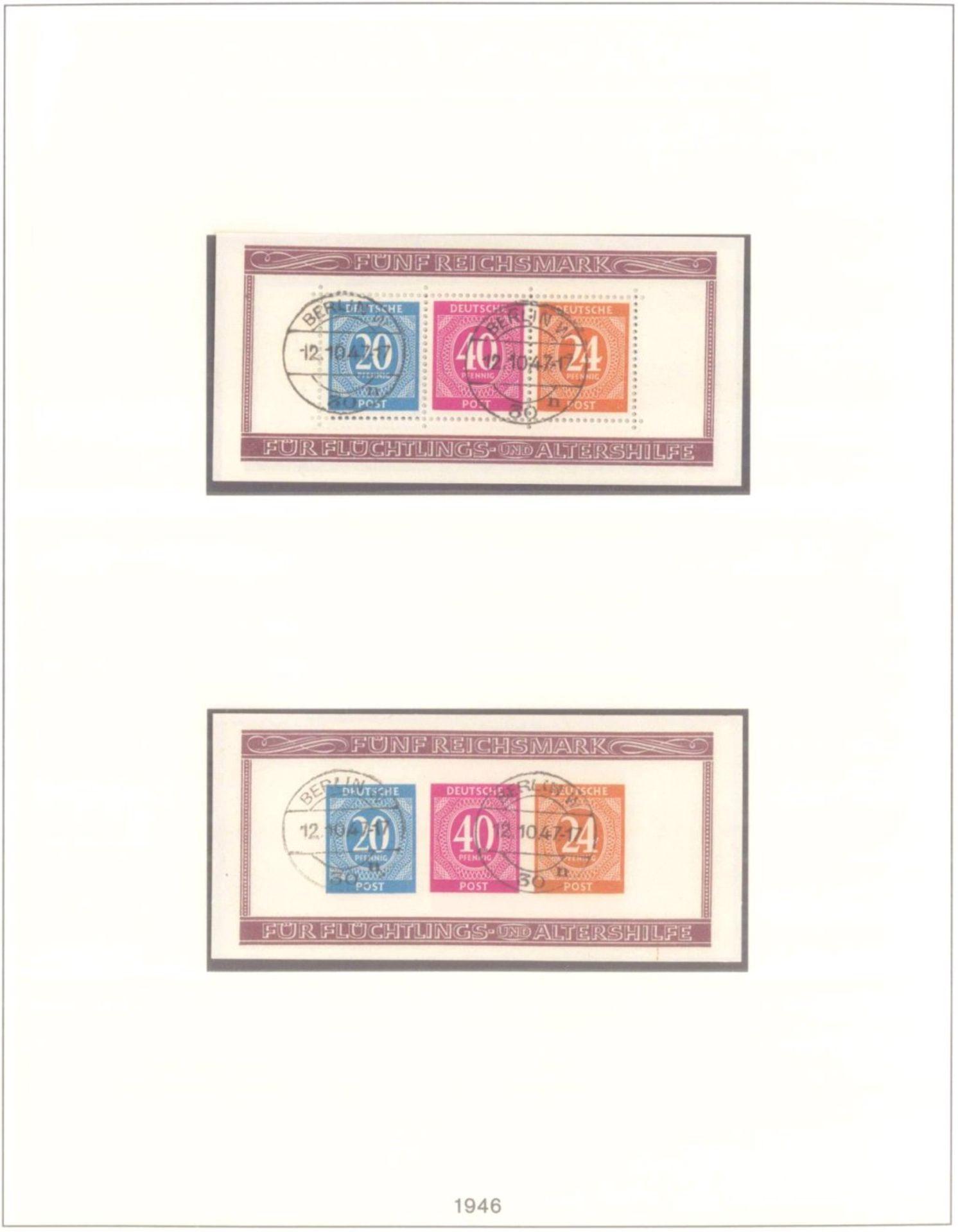 Sammlung Alliierte BesetzungAmerikanische und Britische Zone, AM Post (auch hohe Werte),sowie - Bild 7 aus 12