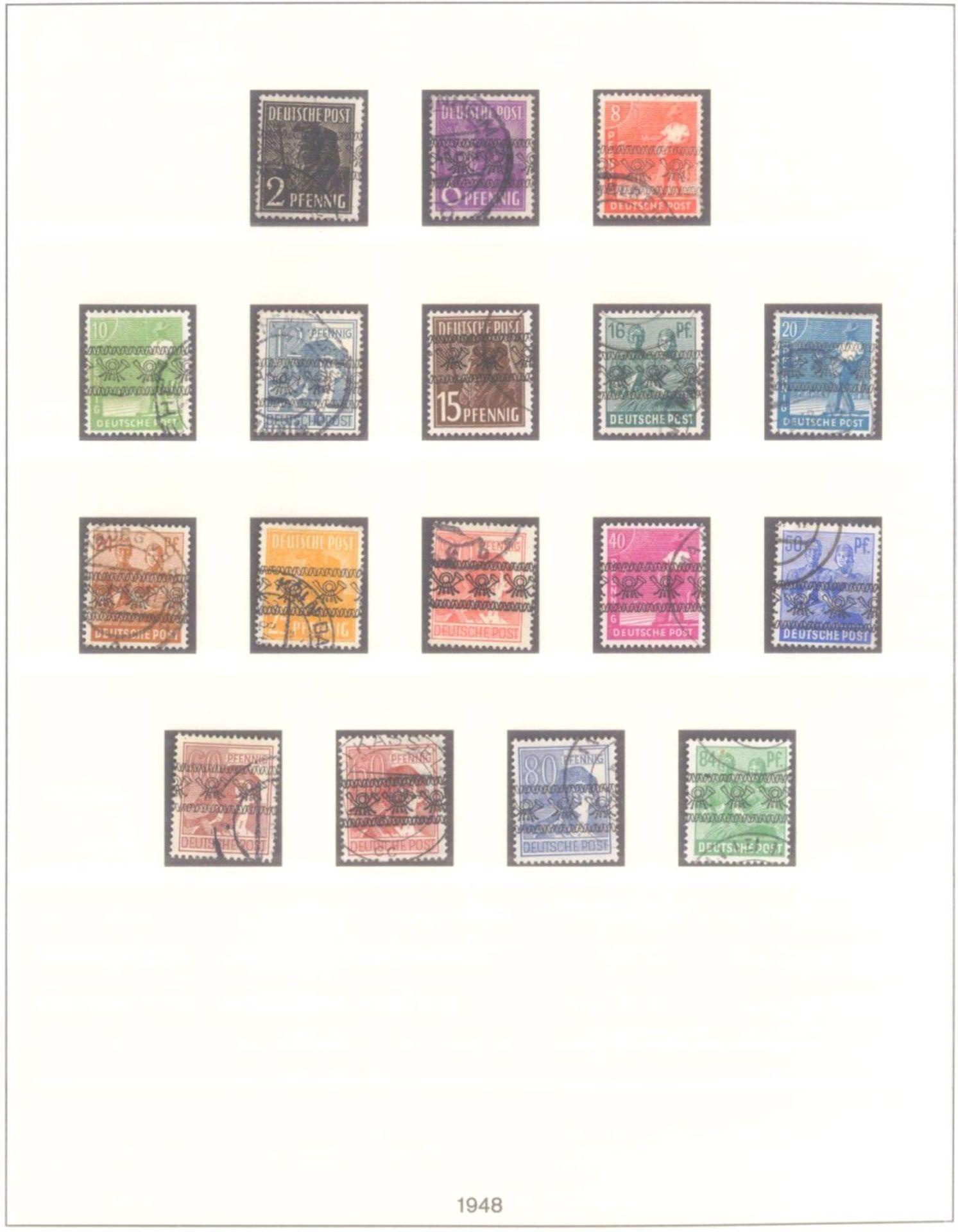 Sammlung Alliierte BesetzungAmerikanische und Britische Zone, AM Post (auch hohe Werte),sowie - Bild 4 aus 12