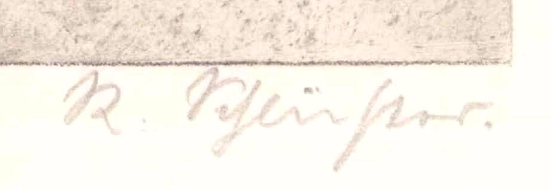 Rudolf Schlichter 1890-1955. Am AltarKaltnadelradierung, unten rechts mit Bleistift signiert,ca. - Bild 3 aus 3