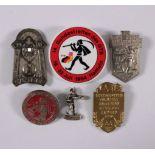 6 Abzeichen Thema Hameln1934 oder älter bis 1984, unterschiedliche Anlässe