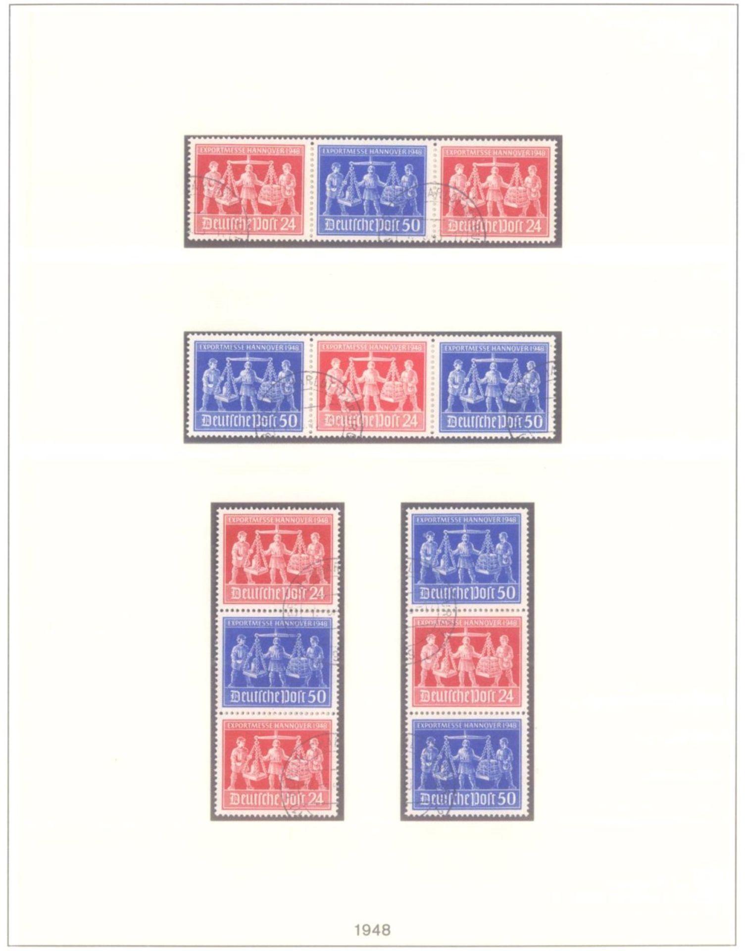 Sammlung Alliierte BesetzungAmerikanische und Britische Zone, AM Post (auch hohe Werte),sowie - Bild 10 aus 12