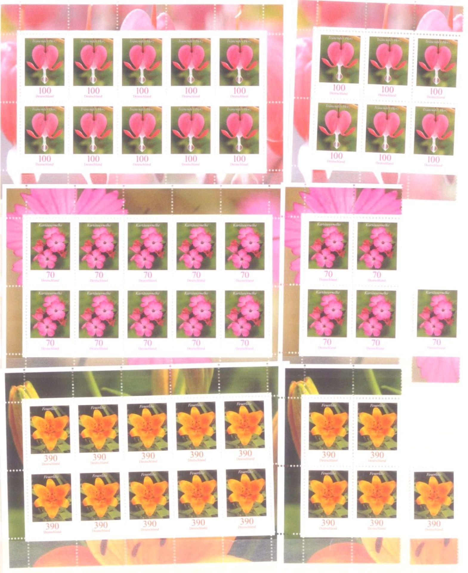 Über 800 Euro Deutsche Nominale, Frankaturware1 Album, dabei Blöcke und Einzelmarken - Bild 3 aus 4
