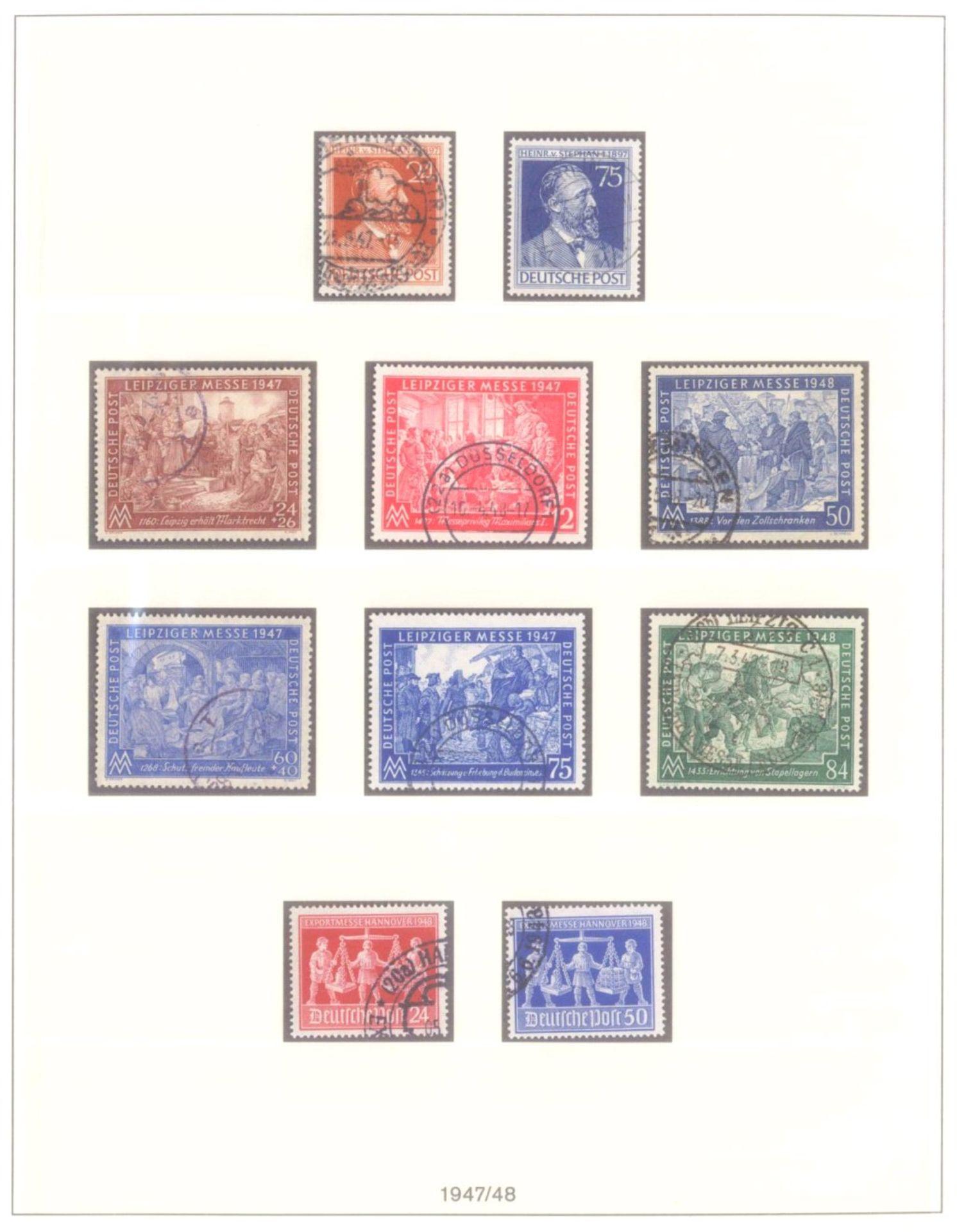 Sammlung Alliierte BesetzungAmerikanische und Britische Zone, AM Post (auch hohe Werte),sowie - Bild 8 aus 12