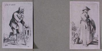 """Pieter Jansz. Quast (1606 Amsterdam 1647)Zwei Kupferstiche, """"Cap:al Verbruit"""", """"Mann mit Hut in"""