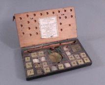 Märkische Münzwage des Waagenmachers Abraham Kruse 1811Ichtmacher Abraham Kruse (1745 in