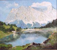 Georg Arnold-Grabone (1896-1982)Wetterstein am Bodensee, Öl auf Leinwand gemalt, unten linksund