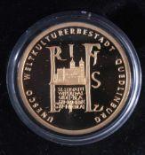 Goldmünze 100 Euro Quedlinburg1. November 2003, Gold, 1/2 Unze (15,55 g), in Kapsel, mitZertifikat