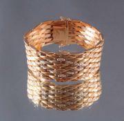 Gliederarmband 750/000 Gelb GoldBreites Gliederarmband, 750er Goldpunze, ca. B-3 cm, L-19,5cm, 71 g