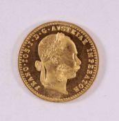 1 Golddukat Kaiser Franz Joseph 1915986er Gold, ca. D-2,0, Gewicht ca. 3,49g