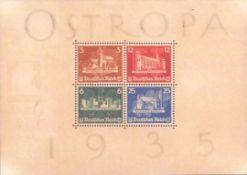 DR Ostropa Block 1935, Block 3Kleine Risse und Verfärbungen, Zähnung angebrochen, Gummiabgewaschen
