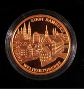 Goldmünze 100 Euro Bamberg1. Oktober 2004, Gold, 1/2 Unze (15,55 g), in Kapsel, mitZertifikat und