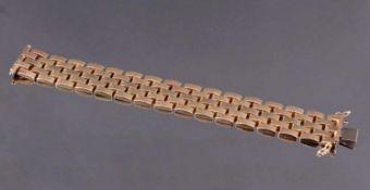 Damenarmband 585/000 GelbgoldGliederarmband, Sicherheitsverschluß, ca L- 18,5 cm, 44,8 g