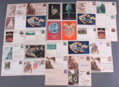 28 Postkarten / Ganzsachen III. ReichTeilweise gelaufen. Alle Karten sind in guten Zustand.