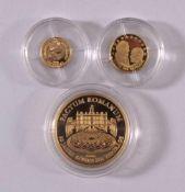 3 Goldmedaillen1x Medaille Pactum Romanum, RS: Deutschland, Gewicht ca. 6,4Gramm, 999er Gold.1x