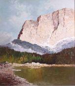 Georg Arnold-Grabone (1896-1982)Am Grillensee, Öl auf Leinwand gemalt, unten linksund verso