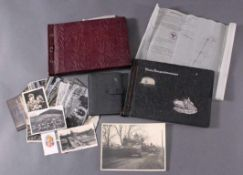 Fotoalbum, Postkarten, Katasterkarte1x Katasterkarte 1936 aus Saarbrücken.Über 30 lose Postkarten,