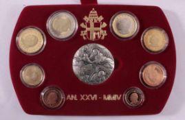 Vatikan KMS 2004Inklusive 925er Silbermedaille in Originaletui