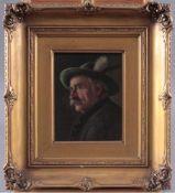 """Walter Roessler (1893-1960)Öl auf Holz, """"Brustbild eines Bauern"""", links oben signiert,ca. 18 x 14"""