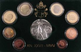 Vatikan KMS 2005Inklusive 925er Silbermedaille in Originaletui