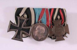 Ordensspange 1. WeltkriegFolgende Medaillen und Verdienstabzeichen sind auf derOrdensspange