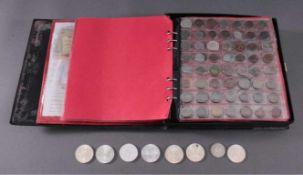 Münzen und MedaillenMünzalbum mit 5 1/2 gut gefüllten Seiten mit Münzen ausDeutschland und der
