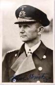 DÖNITZ, KARL, (1891-1980), Großadmiral, Befehlshaber der U-Boote u. letztes Staatsoberhaupt des