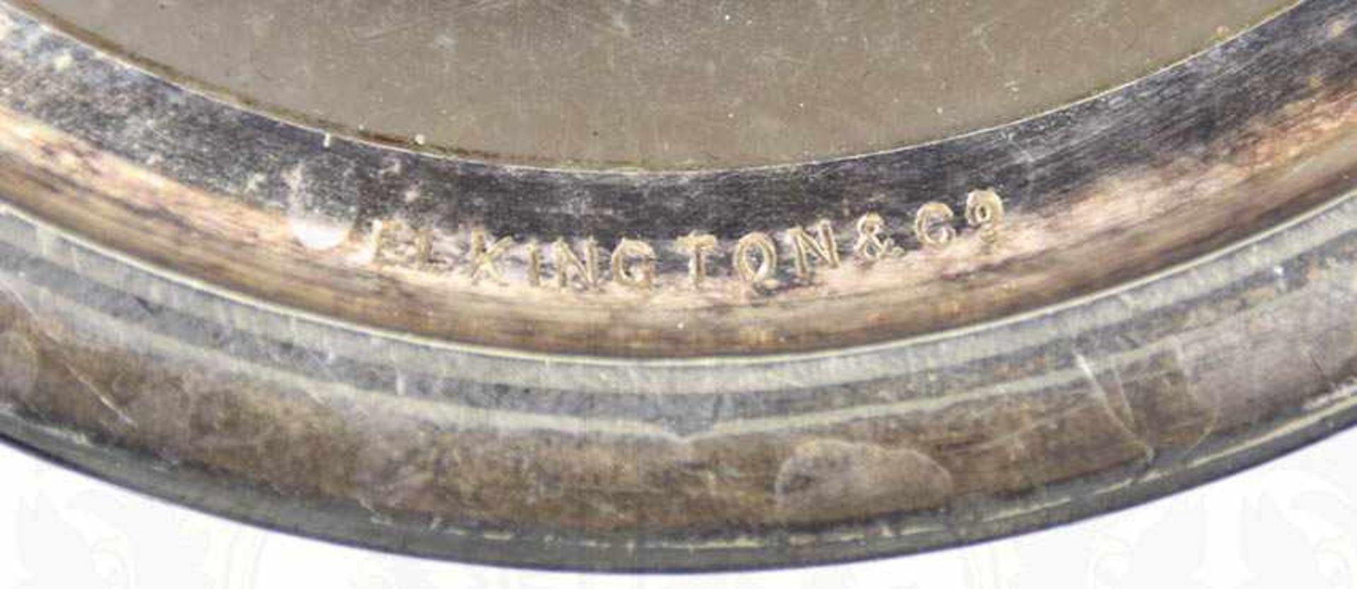 """SILVER-PLATED-BIERKRUG, 1/2 L., Hersteller """"Elkington &. Co."""" sowie """"A 2437"""" im Bodenrand, Henkel - Bild 7 aus 7"""