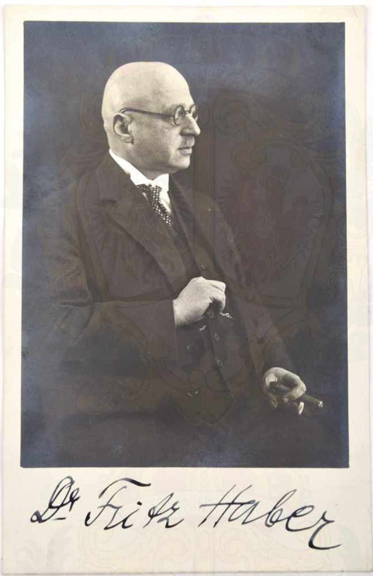 HABER, FRITZ (1868-1934), dt. Chemiker u. Entwickler von synthet. Stickstoffdünger, Nobelpreis 1919,