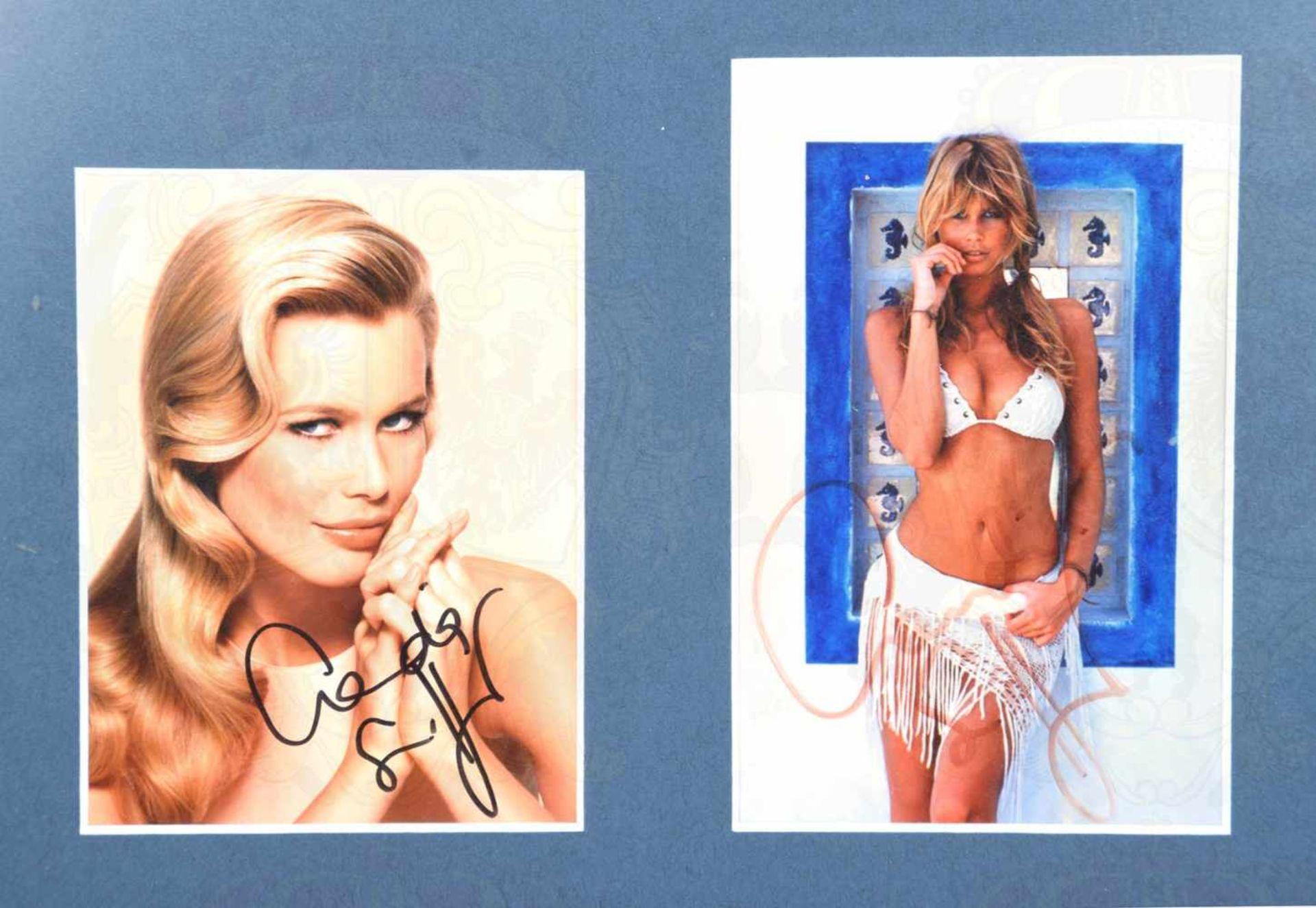 SCHIFFER, CLAUDIA, (1970), dt. Fotomodell u. Schauspielerin, 2 Fotos m. OU, Portr. im 3/4-Profil - Bild 2 aus 2