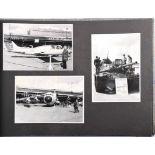 FOTOALBUM FLUGHAFEN BERLIN-TEMPELHOF, Tag der offenen Tür der US-Streitkräfte um 1960, m. 22 Fotos