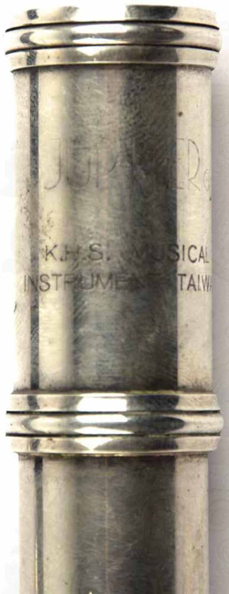 "QUERFLÖTE, Leichtmetall/vernickelt, m. Kopf-, Mittel u. Fußstück, Herst. ""Jupiter"", K.H.S. Musical - Bild 3 aus 4"