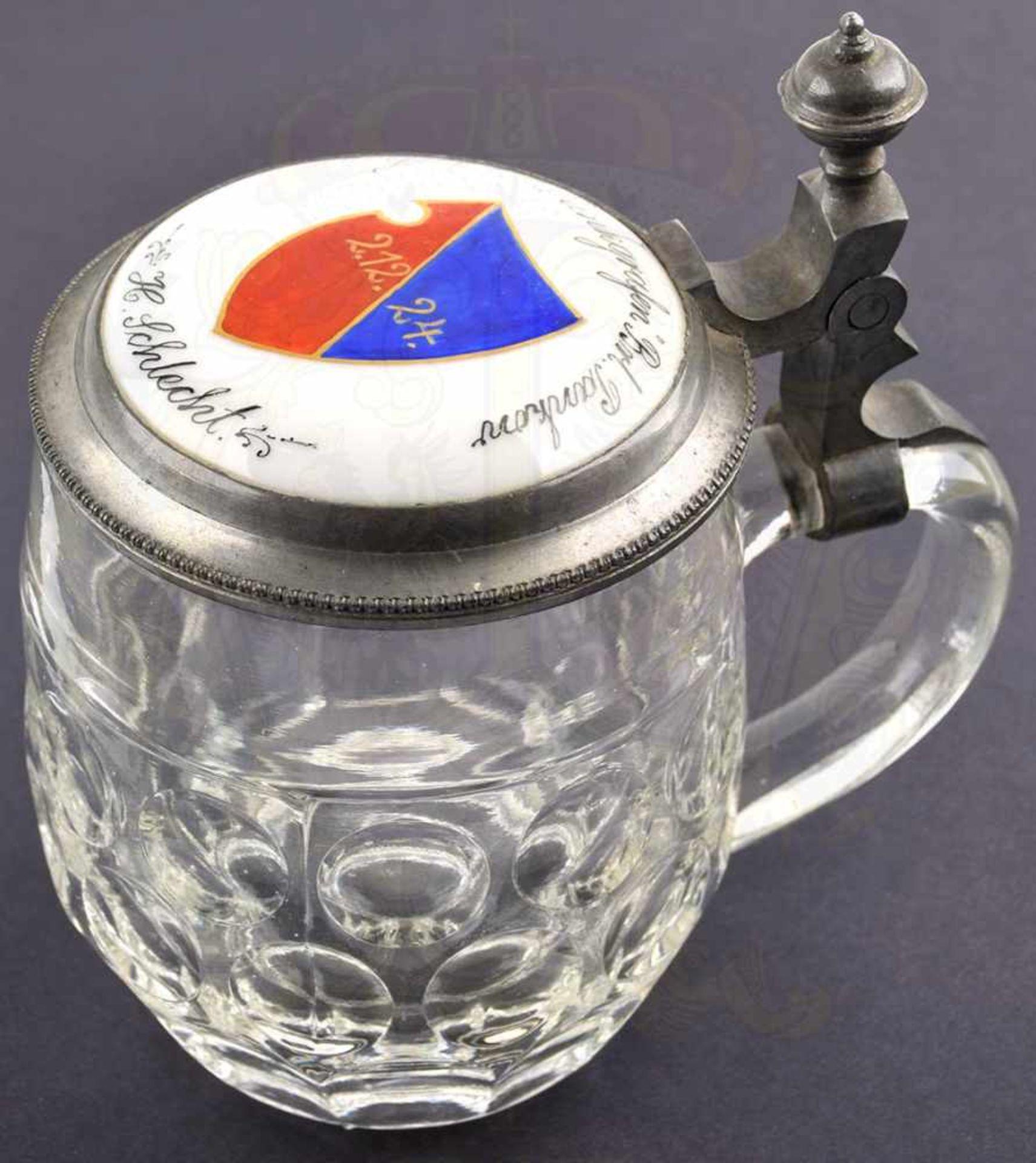 """BIERKRUG PANKGRAFENSCHAFT BERLIN, 1/4 L., Glas mit 2 Reihen """"Bullaugen"""", Boden m. Symbol einer"""