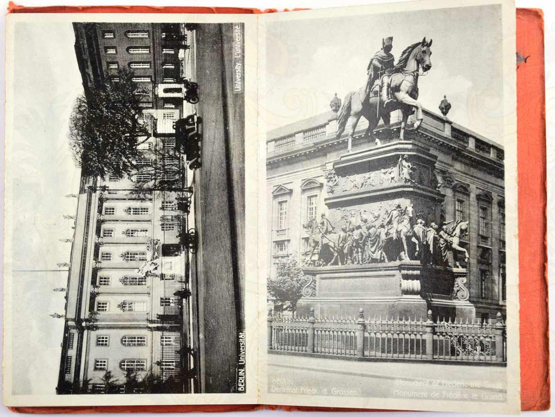 LEPORELLO BERLIN, 16 Lichtdruck-AK, um 1930, Reichskanzlei, Reichswehr vor dem Ehrenmal, - Bild 2 aus 2