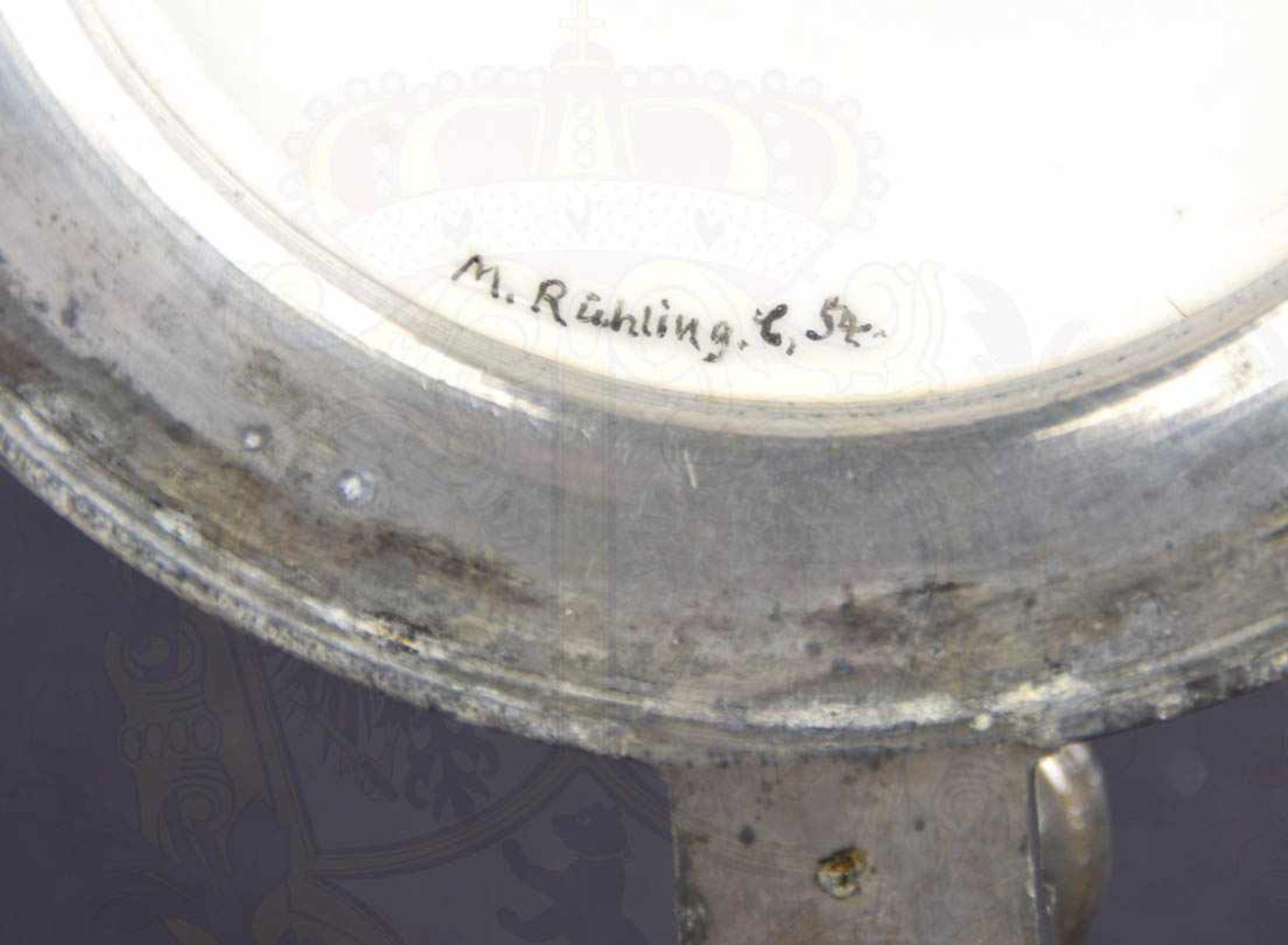 """BIERKRUG PANKGRAFENSCHAFT BERLIN, 1/4 L., Glas mit 2 Reihen """"Bullaugen"""", Boden m. Symbol einer - Bild 3 aus 3"""