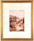 "2 LANDSCHAFTS-AQUARELLE, Reprints, ""Tintern Abbey"" u. ""The Ferry at Tintern"", nach Harold Sutton"