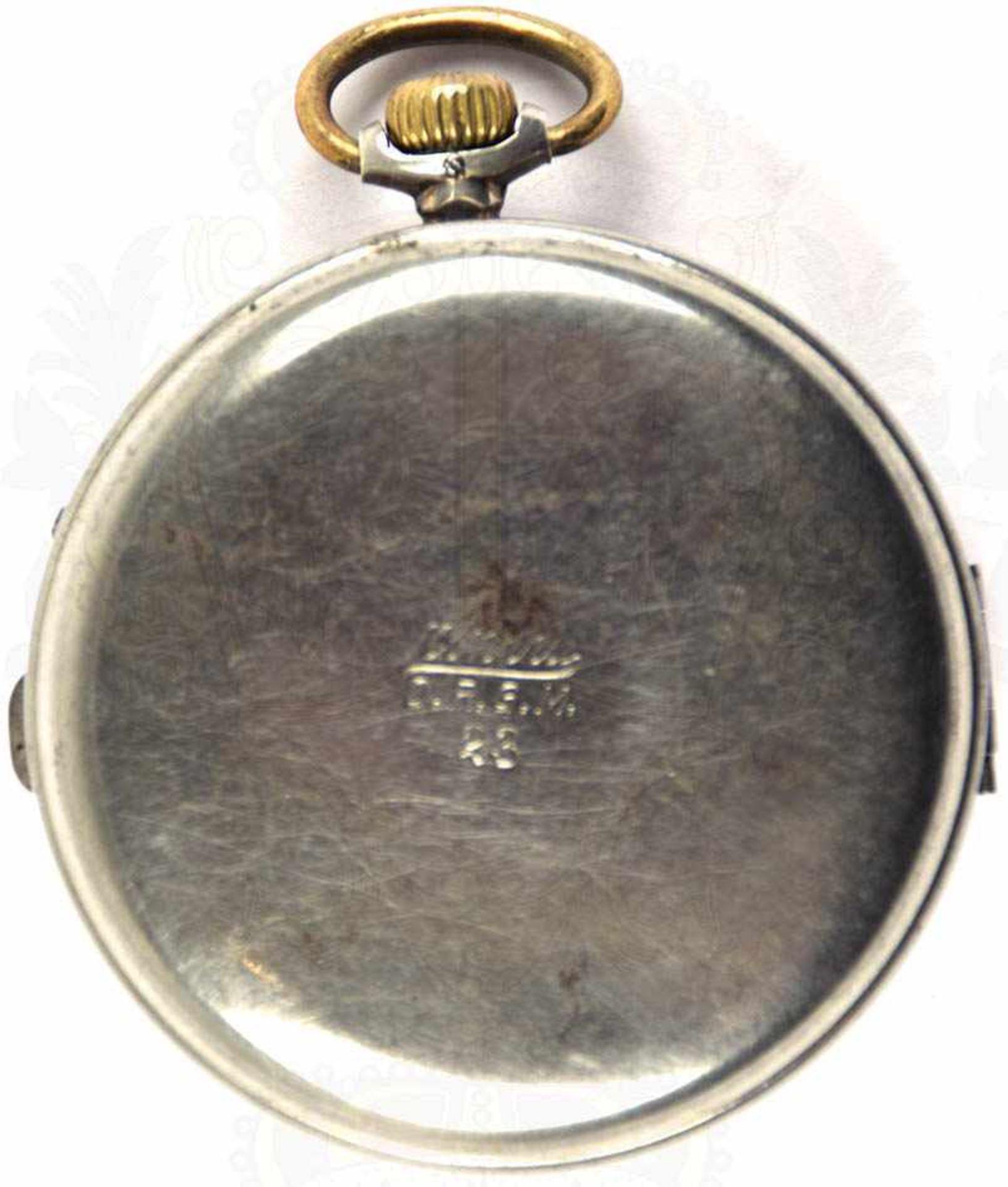 """HERREN-TASCHENUHR, Marke """"Longines"""", um 1900, Punze """"800"""", Kronenaufzug, Tragering u. Zeiger - Bild 2 aus 5"""